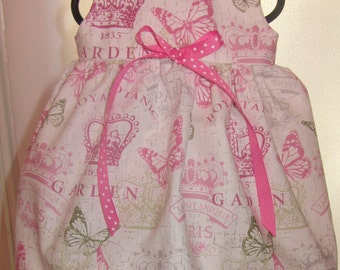 READY to SHIP Butterflies, Paris Doll Dress will fit Bitty Baby or any 15 inch doll