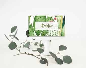 Printable Wedding Place-Card - Wedding Place-Card - Cactus wedding Place-Card - Bohemian Place-Card - Cactus Bohemian Wedding Palm Springs