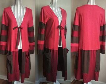 Red Jacket, lightweight jacket, faerie jacket, upcycled jacket, faerie coat, fall fashion, autumn jacket, fairy coat