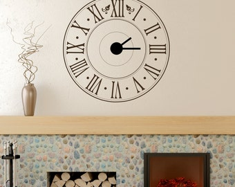 Math Clock math wall decals vinyl wall decal math clock