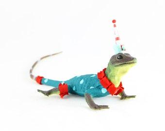 "Party Animal ""Adam"" The Lizard- painted  birthday decor"
