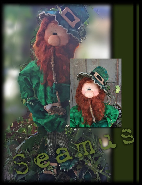 "Doll KIT: Seamus - 22"" Leprechaun- Full Kit of supplies"
