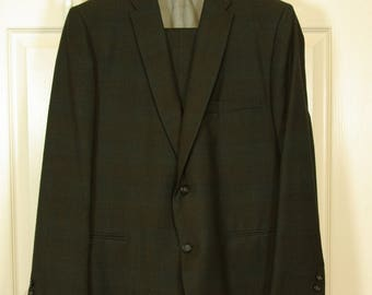 "Men's Mid-60s Suit Mad Men Ocean's Eleven Rat Pack S-M Short 40"" Chest 33"" Waist 26-1/2"" Inseam"