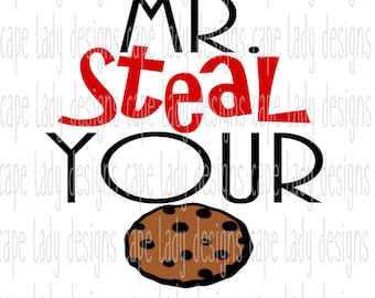 Mr. Steal Your Cookie svg, (svg, dxf, eps and png) vector files, silhouette cameo or cricut files, svg files, cookie svg, kids shirt design