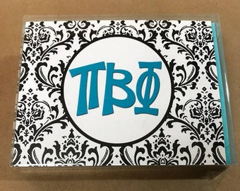 Pi Beta Phi Damask Notecards