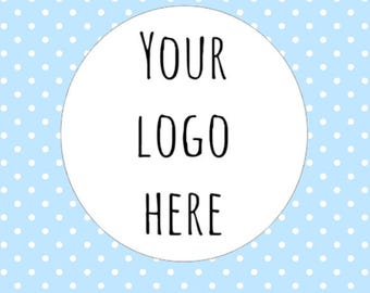 Business Logo Stickers Your Logo Here Personalised Custom Logo Stickers Business Labels Crafts Round Sizes Stickers