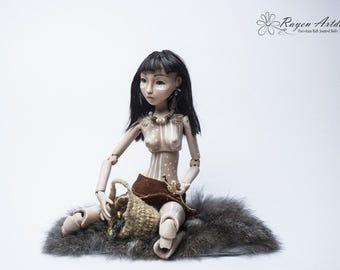 As example:  OOAK porcelain BJD Selk'nam Ona girl