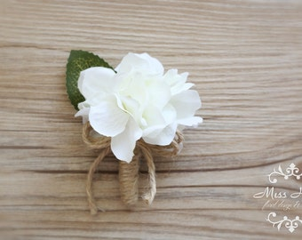 Baby Boutonniere, Small Hydrangea Boutonniere, Ring bearer boutonniere, Child boutonniere, Small Boutonniere, baby buttonhole, Rustic