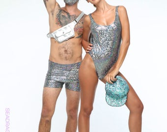 Holographic Dust Mask | 13 Colors | Burning Man Dust Mask, Burning Man Costume, Festival Mask, Face Cover, Doof, Rave Mask, EDM