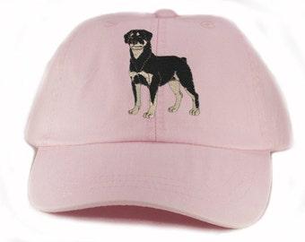 Rottweiler embroidered hat, baseball cap, dog lover gift, pet mom cap, dad hat, mom, gift for pet lover, dog agility, dog lover hat, rottie