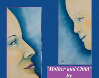 Mother & Child By Tim Prock A Pair Of Oil on Canvas Paintings