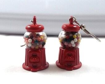 Miniature Gumball Machine Earrings