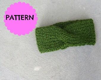 Simple Ribbed Knit Twist Headband Pattern