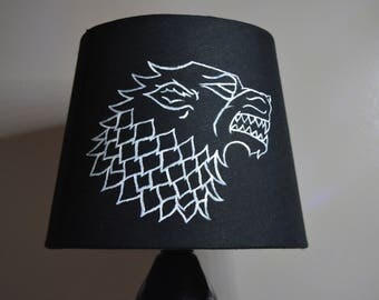 "Handpainted ""Game Of Thrones"" Stark Lamp"