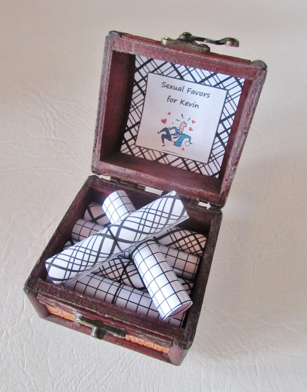 Scrapbook gift ideas for boyfriend - Husband Birthday Gift Idea Sexual Favors Scroll Box Sexy Favors In Wood Box Sexy Gift Idea Coupon Book Sex Coupons Boyfriend Birthday Gift