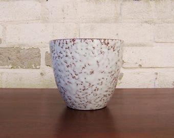 Vintage Planter Plant Pot by Jasba - West German Pottery - Mid Century Modern - 50s 60s - Fat Lava era