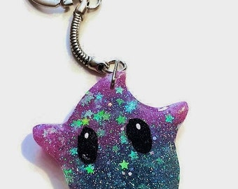 Super Mario Invincibility Star Keyring / Key Chain / Bag charm / perfect gamer gift