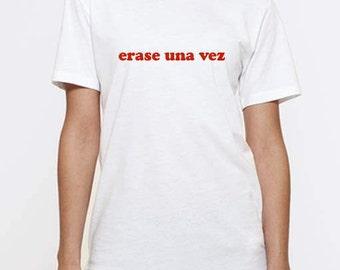 "T-shirt unisex cotton organic ""erase a time"""