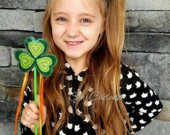 Shamrock Tiara, Wand & Headband ~ St. Patrick's Day Tiara, Wand and Headband ~ Lucky Clover Tiara ~ Irish Tiara ~ Ireland Tiara and Wand