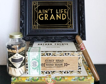 Ain't Life Grand Great Gatsby Sign - Roaring 20s Party, DIY Instant Download Typography Print