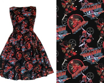 SAMPLE SALE - Marvel Deadpool Fabric Dress - Approximate UK Size 8-10