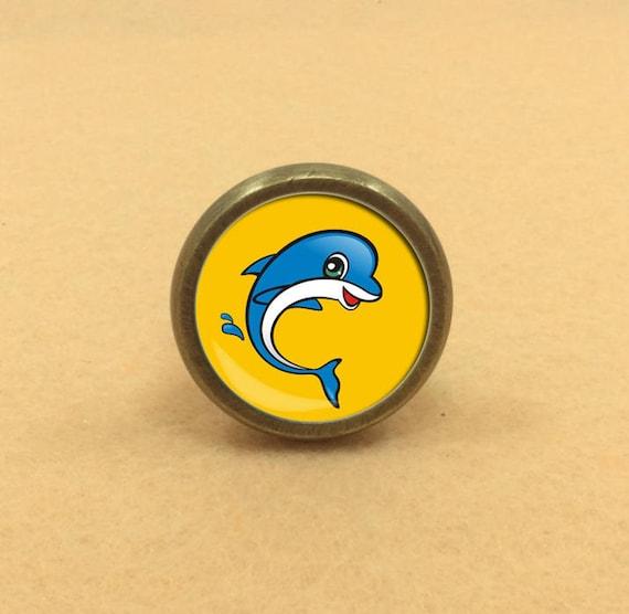 Dolphin dresser knob drawer knobs pulls handles decor for Children s bureau knobs