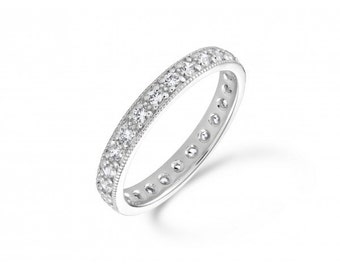Antique 050ct Full Diamond Eternity Ring