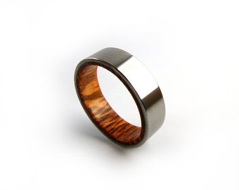 Wine Barrel Ring, Wine Barrel Art, Women's Wedding Ring, Men's Wedding Ring, Engagement Ring, Titanium Ring, Grand Junction Guy, Colorado