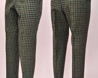 Vintage 1960s Maxbro Mod Tweed Hipster Trousers with Drainpipe Leg.