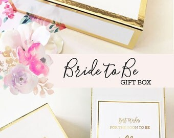 Bride Gift - Bridal Shower Gifts for Bride to Be Gift Bride Gift Basket Engagement Gift for Bride Gift Ideas Bride To be  (EB3171BPW) EMPTY