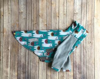 Custom SMALL Dog Sweater in Llama Print - The Chimborazo