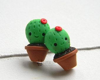 Cactus, Succulent plant, kawaii, Stud Earrings for Succulent Lovers!!!