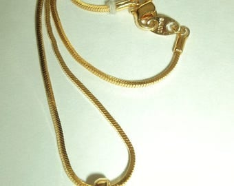 Vintage Avon Gold tone Chain with Solitaire Pendant