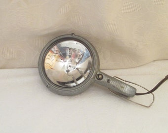Electroline Spotlight, Vintage Ford Car Spotlight, Handheld Car Spotlight, Sealed Beam, 1950's Hot Rod Light, Electroline G Series Mopar