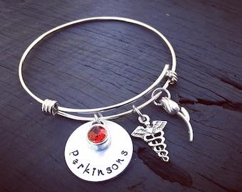 Parkinsons Bracelet | Parkinsons Jewelry | Parkinsons Awareness Jewelry | Medical Alert Bracelet | Medical Alert Jewelry | Parkinsons Gift
