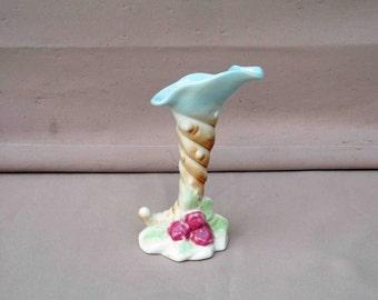 Vintage Horn Ceramic Glazed Vase,Great For Any Decor
