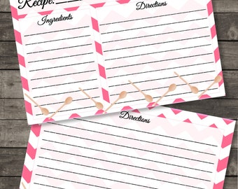 Pink Spoons Recipe Card