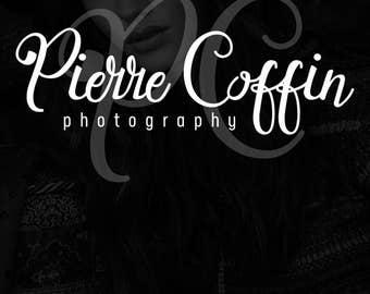 SALE Photography Logo Calligraphy, Premade Logo Design, Initials Logo, Handwritten Style, Pretty Logo, Curly Script Logo, Pierre Logo
