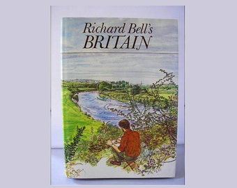 Vintage book Richard Bell's Britain 1981 hardback 1st ed color drawings illustrations natural history countryside wildlife plants birds 93