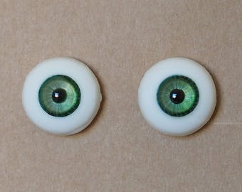 16mm Moonteahouse (Mth) Eyes - Handmade Green Resin Eyes for BJD, ABJD and Dolls [17051]