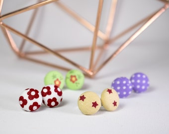 Studs with fabric covered button
