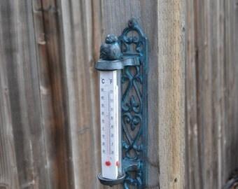 Bird Thermometer. Bird Decor. Garden Decor. Metal Decor. Bird Wall Decor. Thermometer. Wall Thermometer. Wall Decor. Wall Hanging