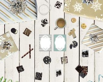 Mini Personalized Notepads - Christmas Coziness - Personalized Notepads - 25 to 75 pages