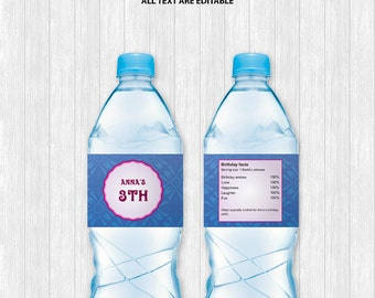 Anna Water Bottle Labels