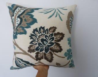 Modern floral print 50x50cm decorative cushion with eco friendly insert