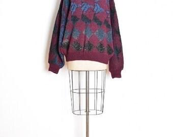 mc escher sweater, vintage 80s sweater, escher birds, boyfriend sweater, ugly sweater, cosby sweater, wool sweater, 80s jumper, bird print
