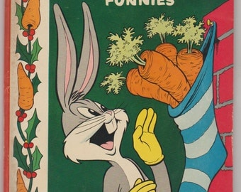 Dell Giant Bugs Bunny's Christmas Funnies; Vol 1, 3, Golden Age Comic Book. VG/FN (5.0). November 1952. Dell Comics