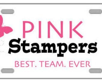 Pink Stampers - Car Front License Tag