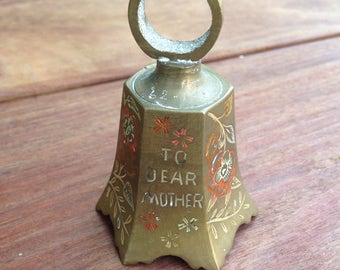Vintage Brass Bell India For Mother