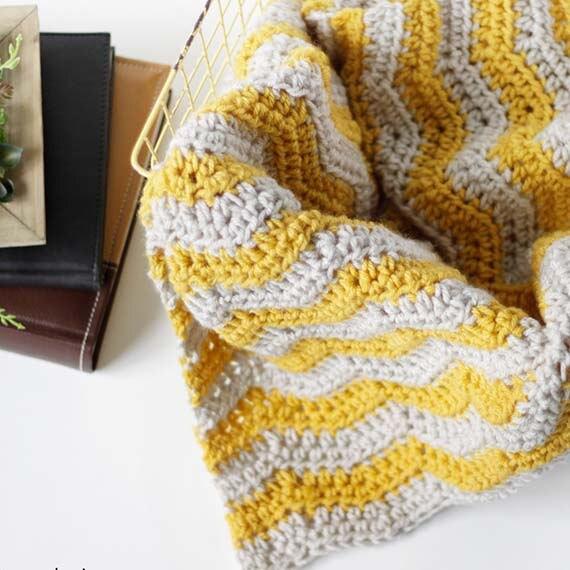 PDF Crochet Pattern ~ Ripple Baby Blanket Pattern